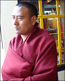 A Tibetan monk, Tsering