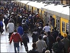 Existing South African trains are over-crowded