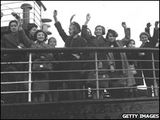Archive picture of children in the Kindertransport programme