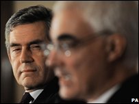 Prime Minister Gordon Brown and Chancellor Alistair Darling