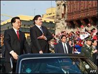 Hu Jintao, presidente de China y Alan García, presidente de Perú