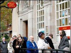 Queue at Post Office