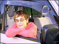 Beverley Hope-Smith in her car