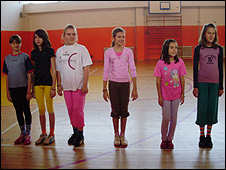 Children at school in Doboj
