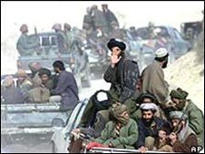 Taleban fighters in 2001