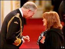 Prince Charles and Lynda La Plante
