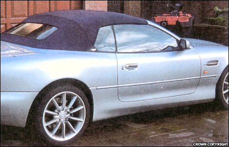 Mr Johnson's luxury car collection also included an Aston Martin DB7.