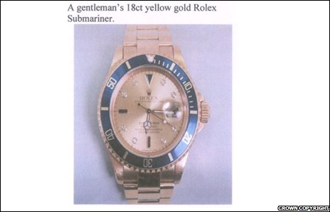 A Rolex watch belonging to Craig Johnson.
