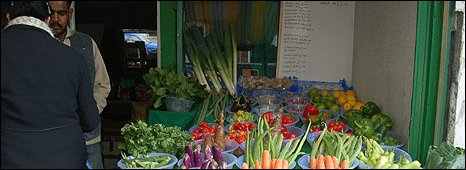 Vegetable stall in East Ham, London