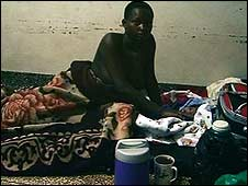 Mother and child on labour ward floor