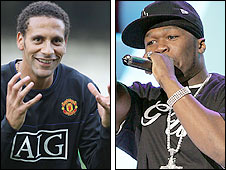 Rio Ferdinand and 50 Cent