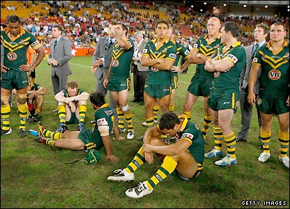 The Kangaroos had been incredibly heavy favourites and appear to be visibly stunned by their defeat