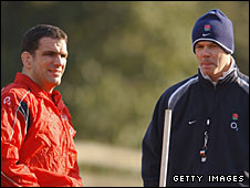 Martin Johnson and Clive Woodward