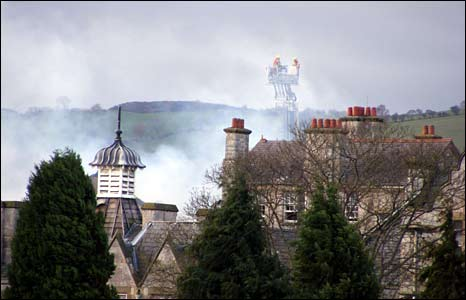 The fire broke out at 0619 GMT on Saturday morning (Pic Colin Jones)