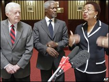 Jimmy Carter, Kofi Annan and Graca Machel