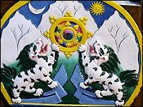 Escudo del gobierno en exilio de Tibet