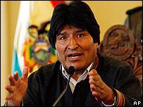 Evo Morales el 22 de noviembre