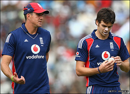 Kevin Pietersen and James Anderson