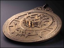 Planispheric Astrolabe, Iran or Oraq, 985AD at the Qatar Islamic Art Museum