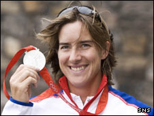 Katherine Grainger with her silver medal