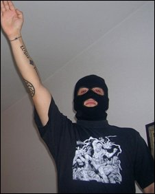 Member of an Israel neo-Nazi cell (file pic, Israel Police)