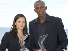 Yelena Isinbayeva and Usain Bolt