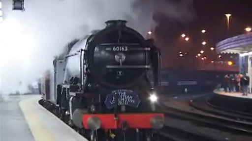 Tornado steam train, in a video sent by BBC News website reader John Bird