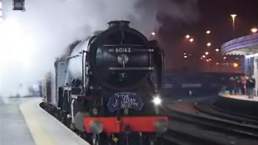 Tornado steam train, in a video sent by BBC News website reader John Bird