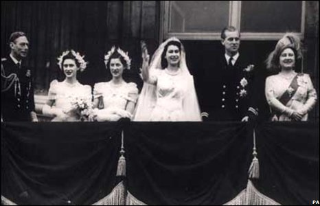 Prince Philip and Princess Elizabeth celebrate their wedding day