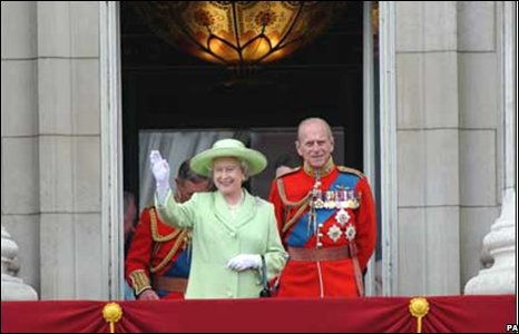 The royal couple at the golden jubilee
