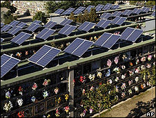 Solar Panels on Spanish mausoleums