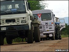 UN escort vehicles (Image: Gorilla.cd)