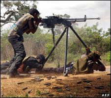 Rebel troops near Kilinochchi. File pic