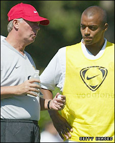 Sir Alex Ferguson and David Bellion