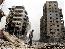 Aftermath of Israeli bombardment of Beirut during the 2006 Lebanon war
