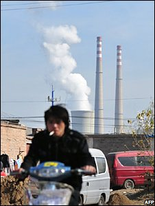 Coal-fired power station on the outskirts of Beijing (AFP/Frederic J Brown)