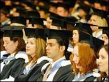 Students at degree ceremony