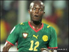 Cameroon striker Alain Nkong