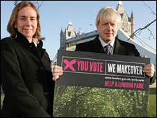 Environment Advisor Isabel Dedring and London Mayor Boris Johnson