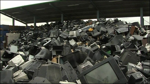 Dump of Televisions