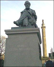 Clerk Maxwell statue