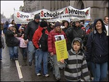 Council cuts protest