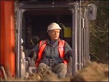 Nicholas Owen in digger