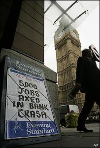Diario anuncia pérdidas de empleos en una calle de Londres, Reino Unido