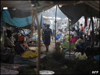 Desplazados congoleses.