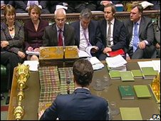 George Osborne responds to Alistair Darling's statement on Monday