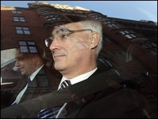 Alistair Darling after delivering PBR