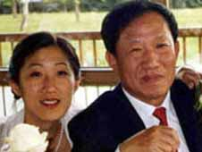Wo Weihan and his daughter Ran Chen (file photo)