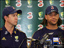 Ricky Ponting and Andrew Symonds