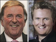 Sir Terry Wogan and Aled Jones